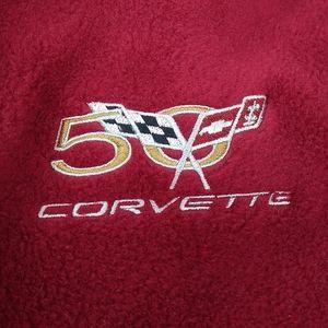 Corvette 50th Ann Embroidered Fleec Jacket